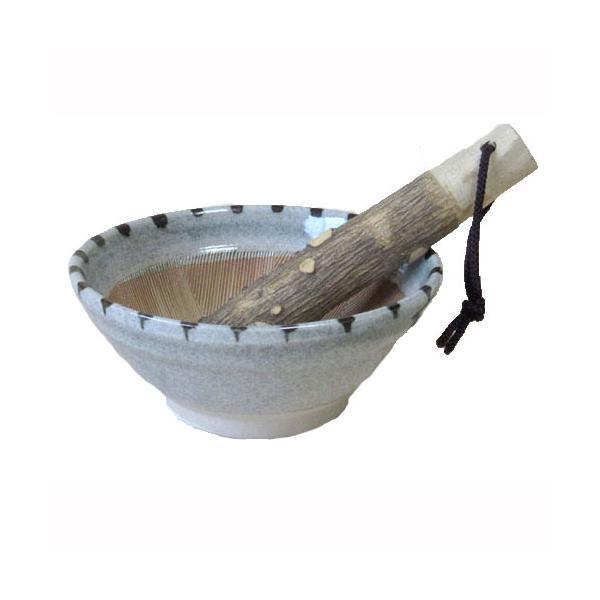 すり鉢 4号 点紋 12.5cm 山椒 すりこぎ付 国産 業務用 調理器具