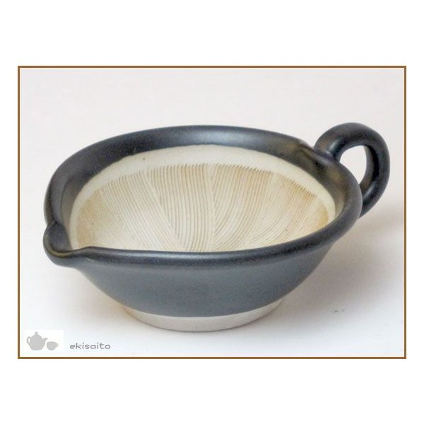 すり鉢 粋な黒 ごますり用 小 国産 業務用 食器