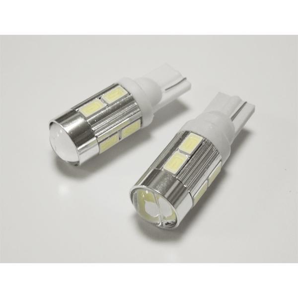 LEDバルブ T10 T16  ポジションランプ 2個セット、魚眼レンズ付 ホワイト 0-25|ekou|02