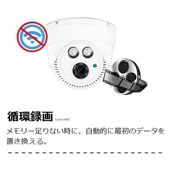 防犯カメラ 人感ライト機能 ドーム型 監視カメラ ネット環境なくても使える 200万画素 音声会話 ワイヤレス sdカード録画 暗視 遠隔監視可能 屋内 EYE-388|ekou|06