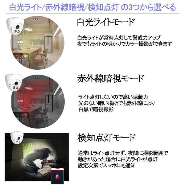 防犯カメラ 人感ライト機能 ドーム型 監視カメラ ネット環境なくても使える 200万画素 音声会話 ワイヤレス sdカード録画 暗視 遠隔監視可能 屋内 EYE-388|ekou|08