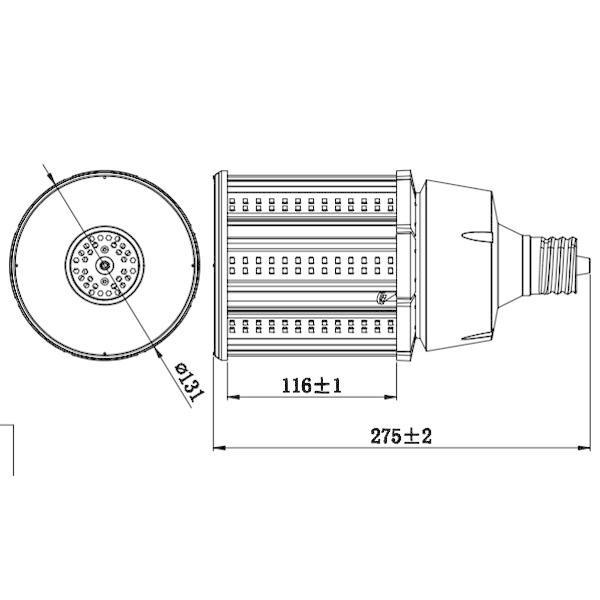 LED 水銀ランプ 400W水銀灯相当 LEDコーンライト 防水E39 LED電球100W 12500LM 昼白色  E39-conel-100w|ekou|02