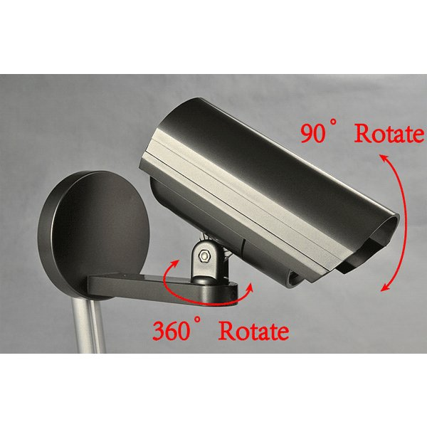屋外用 ダミー防犯カメラ LEDセンサーライト 防水 人体感知 配線工事不要 昼白色 電池式 F-SSL ekou 02