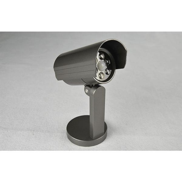 屋外用 ダミー防犯カメラ LEDセンサーライト 防水 人体感知 配線工事不要 昼白色 電池式 F-SSL ekou 03