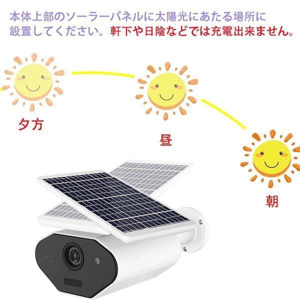 防犯カメラ 200万画素 ソーラー充電 電源不要  屋外 防水 WIFI ワイヤレス ネットワーク 監視カメラ 人感録画 完全コードレス トレイルカメラ  SLCMR-2 ekou 04