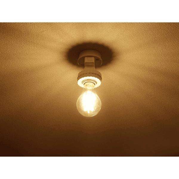 LED電球 E26 調光対応 フィラメント 50W相当 クリア広角360度 6W 600LM LED 電球色 エジソンランプ エジソン球 TKE26-6WA-Y|ekou|02