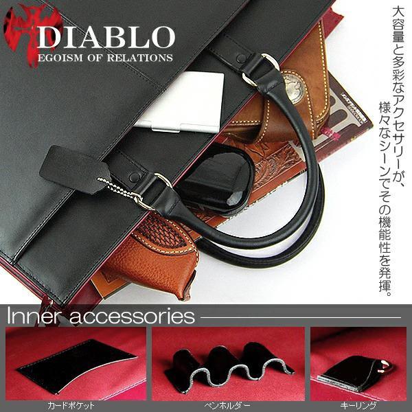ビジネスバッグ メンズ 革 レザー ビジネスバック ビジネス バッグ 鞄 ツートンカラー DIABLO 2色|el-diablo|03
