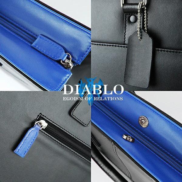 ビジネスバッグ メンズ 革 レザー ビジネスバック ビジネス バッグ 鞄 ツートンカラー DIABLO 2色|el-diablo|04