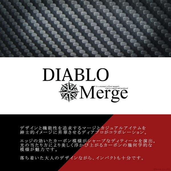 ペンケース 筆箱 三角ペンケース メンズ カーボンデザイン バイカラー DIABLO×Merge MGD-1941|el-diablo|02