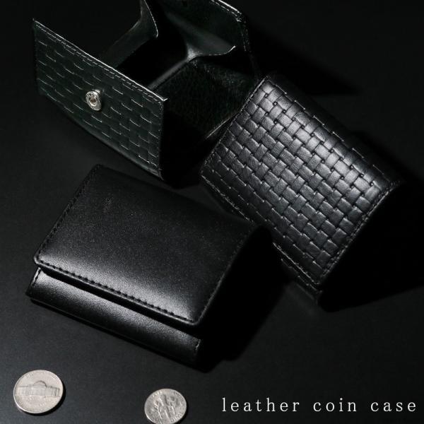 小銭入れ 牛革 レザー コインケース メンズ ボックス型 シンプル コンパクト CZC-001 mlb el-diablo