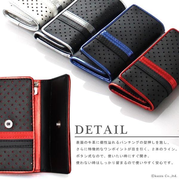 キーケース メンズ 牛革 メンズキーケース レザー パンチング&ラインデザイン DIABLO KA-1042|el-diablo|02