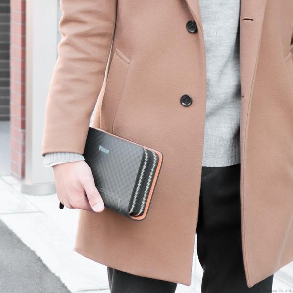 セカンドバッグ メンズ 鞄 本革 スペインレザー ダブルファスナー メッシュ 4色 * el-diablo 03