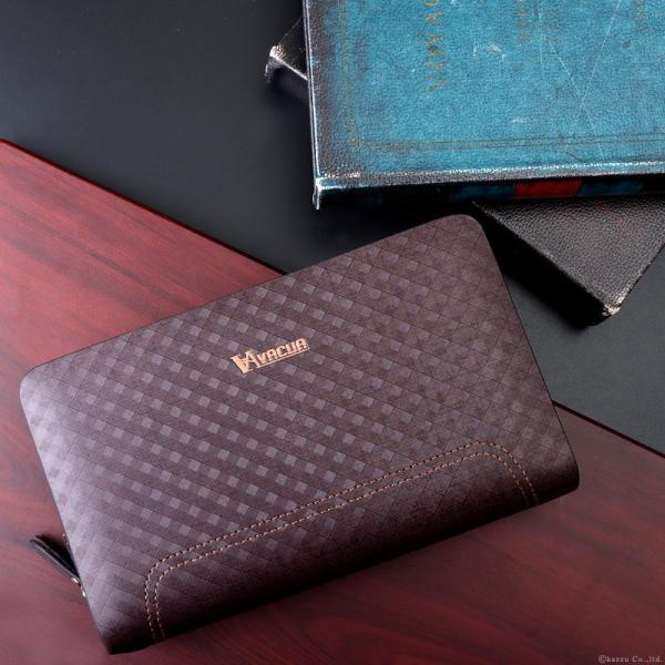 セカンドバッグ メンズ 鞄 本革 スペインレザー ダブルファスナー メッシュ VACUA VA-004|el-diablo|05