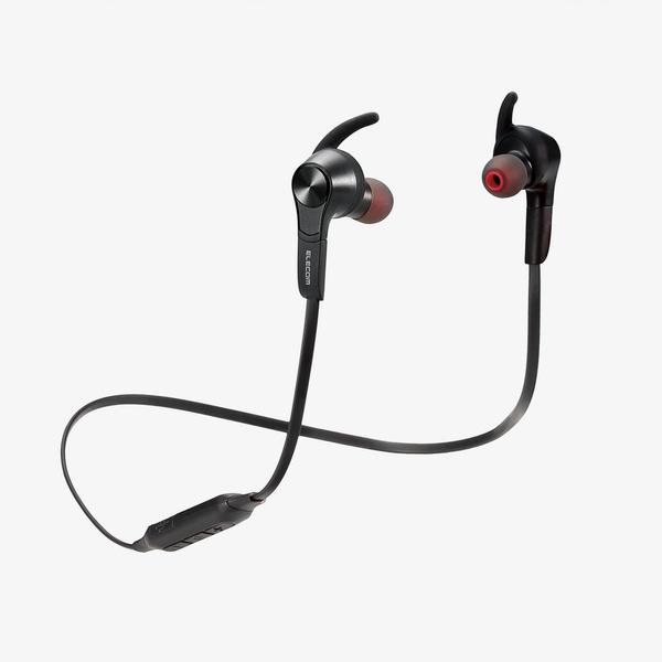 エレコム Bluetoothワイヤレスヘッドホンイヤホン連続再生7時間通話対応 ブラック┃LBT-HPC41MPBK