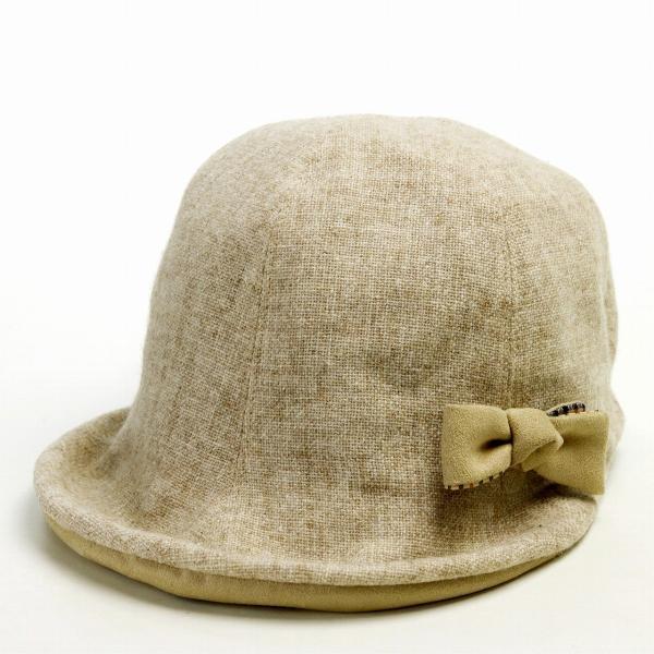 DAKS レディース 秋冬 UVカット チューリップ ハット 紫外線対策 帽子 ダックス 婦人 キャップ ベージュ