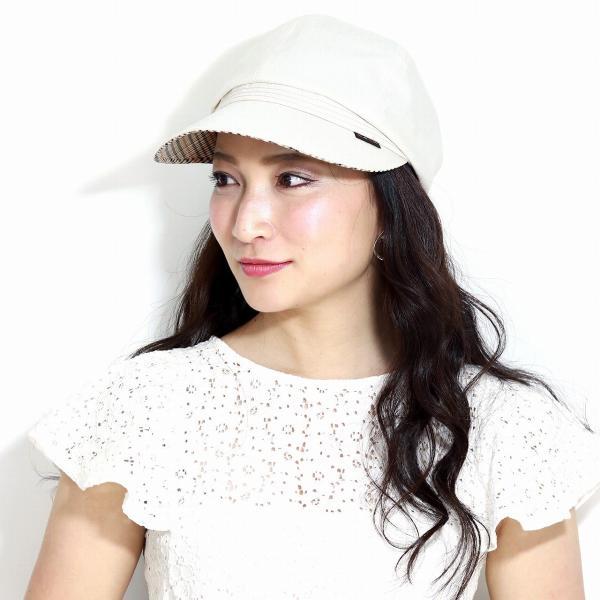 キャスケット春夏ダックスレディースシャンブレーツイルDAKS日よけ帽子サイズ調整 日本製春夏ベージュ