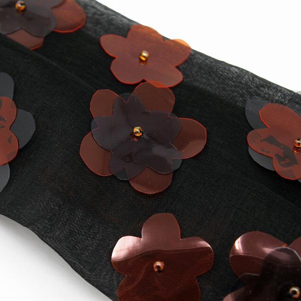 ヘッドドレス レディース 日本製 可愛い 春 夏 ビニールフラワーヘアバンド バラ色の帽子 コットン ビニール ヘアバンド Barairo no Boushi 黒 ブラック
