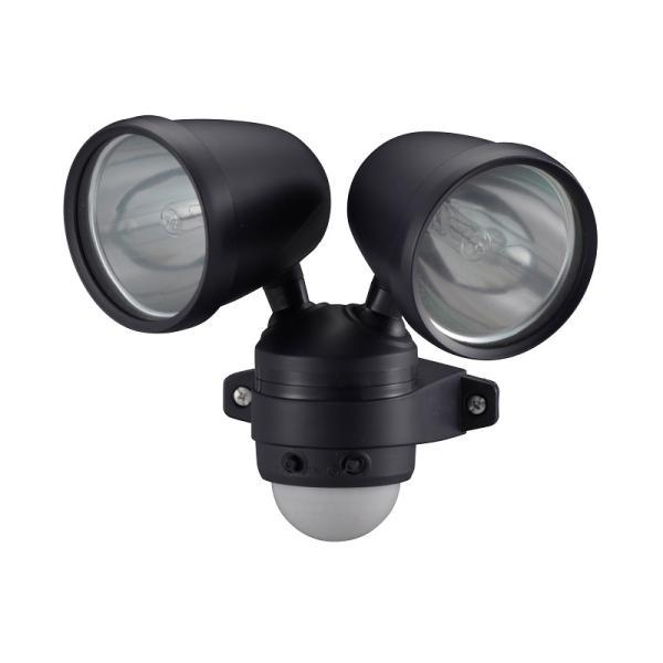 オーム電機 ハロゲンセンサーライト 75W×2灯 ES752 07-5576