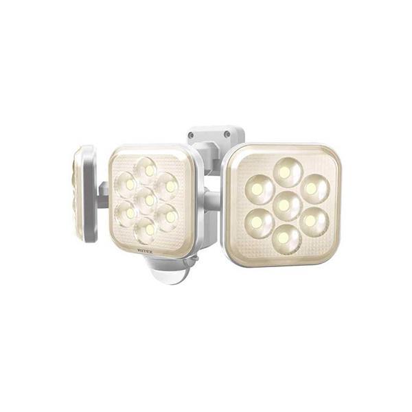 MUSASHI ムサシ 8W×3灯フリーアーム式LEDセンサーライト 電球色 LED-AC3025 RITEX 屋外 屋内 コンセント 新品 送料無料