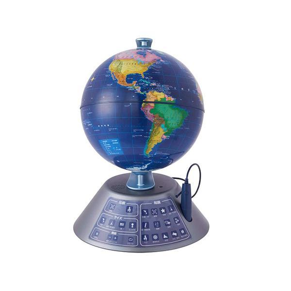 ドウシシャ しゃべる地球儀 ジオペディア ネクスト PG-GPN19R 子ども用 インテリア おしゃれ アンティーク タッチペン クイズ 日本地図付属 軽量 新品 送料無料