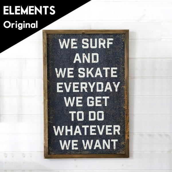 アートパネル 絵画 壁掛け インテリア アートフレーム サインボード ダメージ ウォールパネル おしゃれ インテリア WE SURF デコレーション