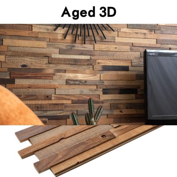 ウッドウォールパネル 無料サンプル 天然木 ウッドタイル 壁用 はめ込み式 見本 ジョイント式 模様替え DIY ビンテージ アンティーク 古材風 elements 05