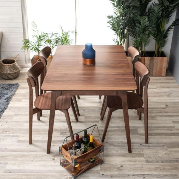テーブル ダイニングテーブル 伸縮 天然木 机 4人掛け 6人掛け 食卓 エクステンション テーブル リビング  ウォールナット 折りたたみ 家具 来客 北欧 おしゃれ|elements|11