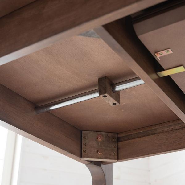 テーブル ダイニングテーブル 伸縮 天然木 机 4人掛け 6人掛け 食卓 エクステンション テーブル リビング  ウォールナット 折りたたみ 家具 来客 北欧 おしゃれ|elements|14