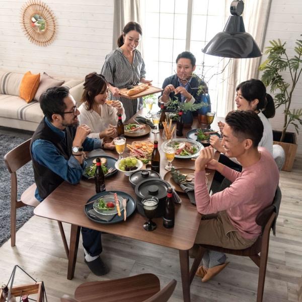 テーブル ダイニングテーブル 伸縮 天然木 机 4人掛け 6人掛け 食卓 エクステンション テーブル リビング  ウォールナット 折りたたみ 家具 来客 北欧 おしゃれ|elements|17