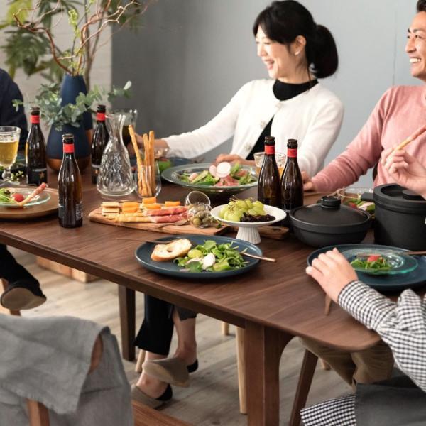 テーブル ダイニングテーブル 伸縮 天然木 机 4人掛け 6人掛け 食卓 エクステンション テーブル リビング  ウォールナット 折りたたみ 家具 来客 北欧 おしゃれ|elements|19