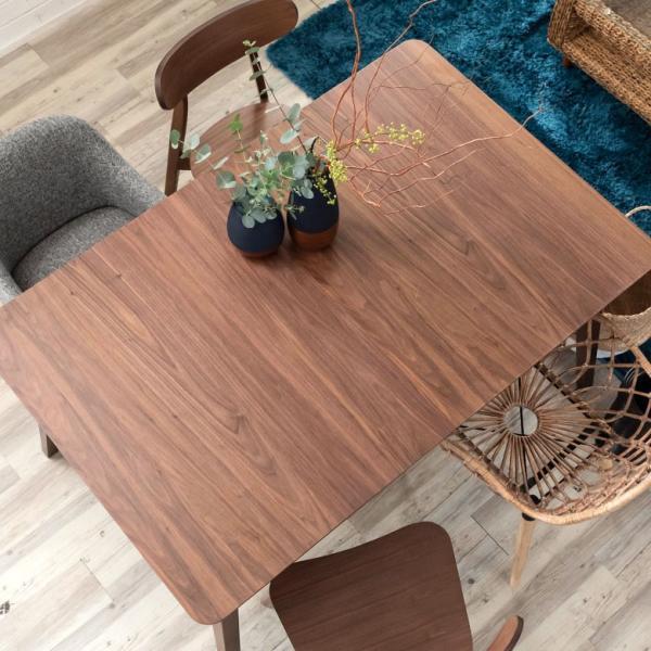 テーブル ダイニングテーブル 伸縮 天然木 机 4人掛け 6人掛け 食卓 エクステンション テーブル リビング  ウォールナット 折りたたみ 家具 来客 北欧 おしゃれ|elements|20