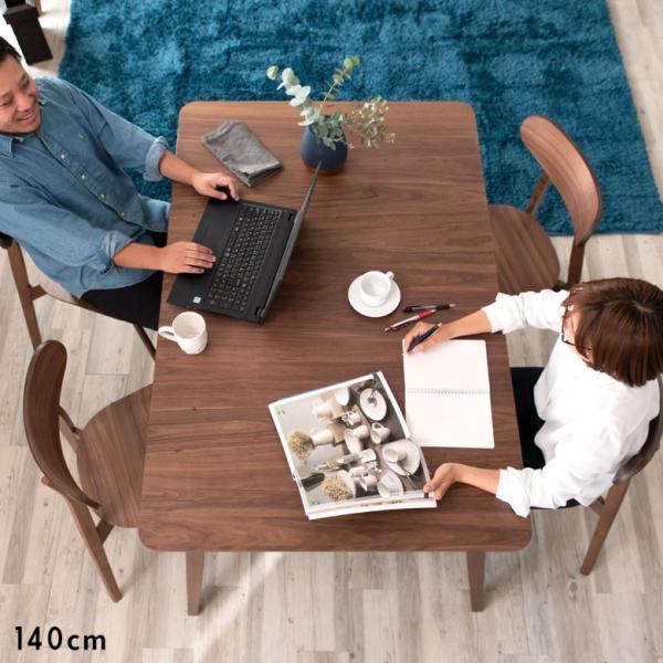 テーブル ダイニングテーブル 伸縮 天然木 机 4人掛け 6人掛け 食卓 エクステンション テーブル リビング  ウォールナット 折りたたみ 家具 来客 北欧 おしゃれ|elements|07