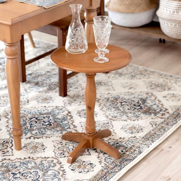 セール特価品 早割クーポン テーブル 円形 木製 直径約38cm コーヒーテーブル サイドテーブル 天然木 おしゃれ 寝室 インテリア ダイニング