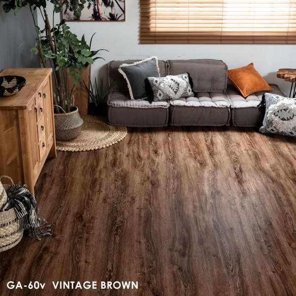 ウッドカーペット 6畳 江戸間 260×350cm ヴィンテージ ビンテージ フローリングカーペット DIY 簡単 敷くだけ 床材 1梱包|elements|08