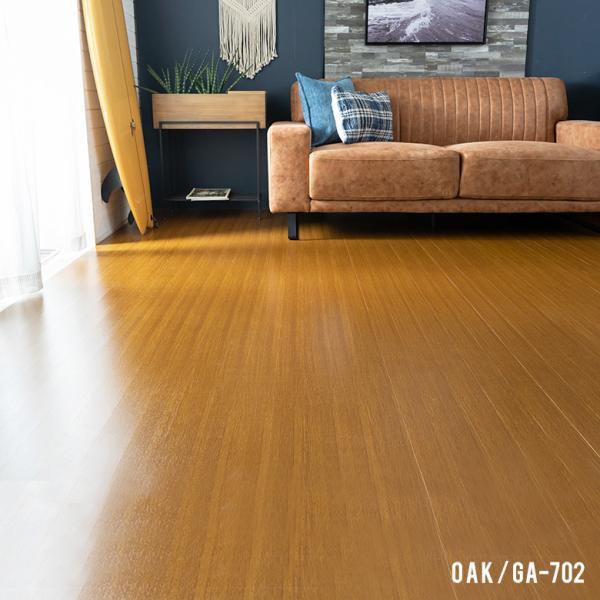 ウッドカーペット 6畳用 団地間 243×345cm フローリングカーペット DIY 簡単 敷くだけ 床材 1梱包 板幅7cm 板幅広め elements 06