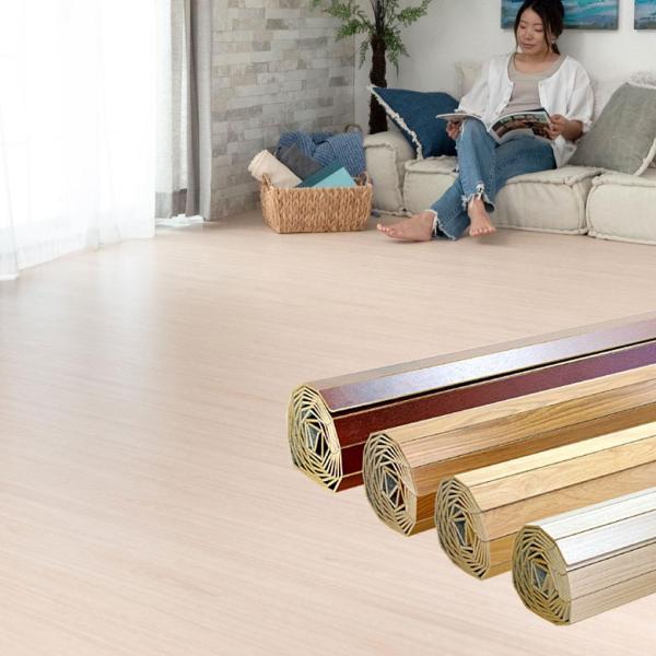 ウッドカーペット 6畳 江戸間 260×350cm フローリングカーペット 床材 DIY 簡単 敷くだけ 特殊エンボス加工 1梱包|elements|17