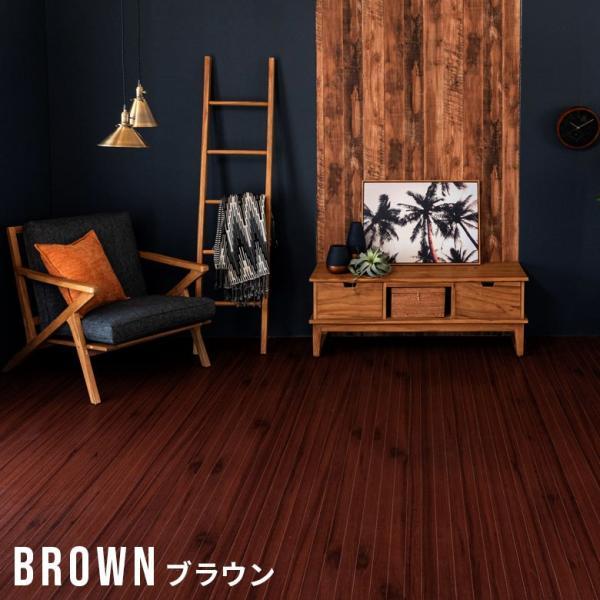 ウッドカーペット 6畳 江戸間 260×350cm フローリングカーペット 床材 DIY 簡単 敷くだけ 特殊エンボス加工 1梱包|elements|07