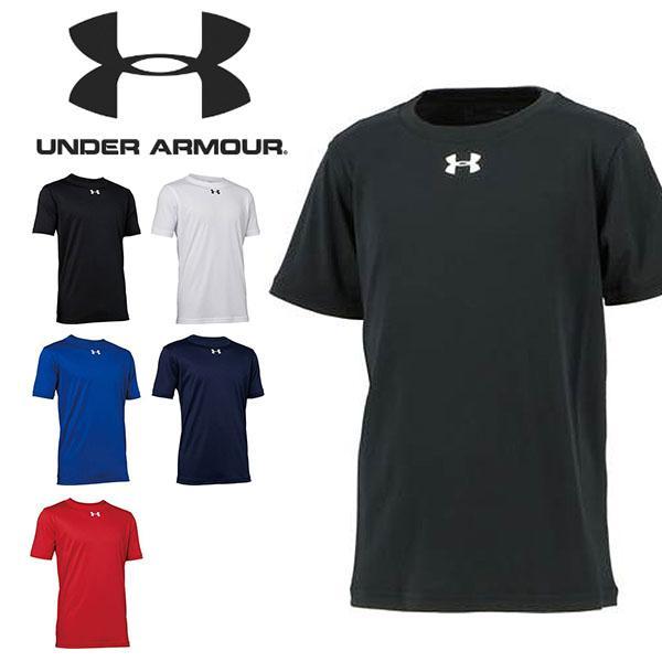 半袖TシャツアンダーアーマーUNDERARMOURUAキッズ子供ジュニア男の子ビッグロゴトレーニングウェア1314090得割23