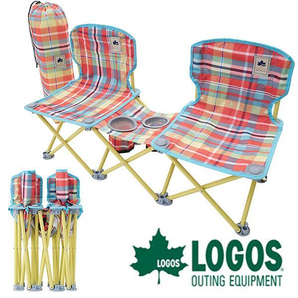 ロゴス LOGOS ペアチェア プラス-AI チェッカー アウトドアチェア 軽量 折りたたみ コンパクト ピクニック イス 椅子 かわいい 73173097