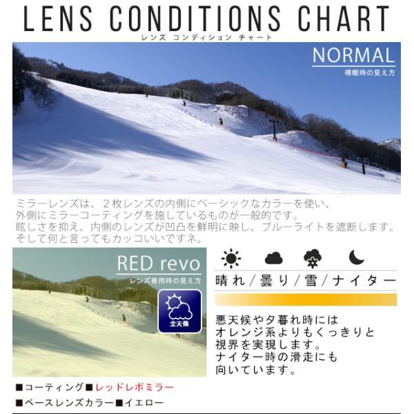 送料無料 スノーボード ゴーグル ケース付き フレームレス メンズ レディース ミラー 球面 ダブルレンズ SNOWBOARD GOGGLE スキー スノボ|elephant|06
