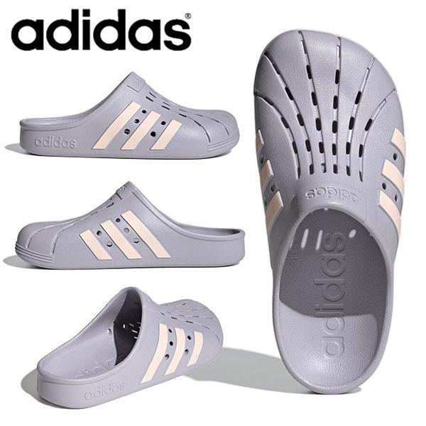 アディダスサンダルレディースadidasADILETTECLOGUクロッグサンダルシューズ靴3本ライン2021春 FY8968