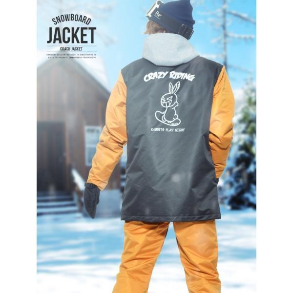 送料無料 スノーボードウェア メンズ Coach Jacket コーチジャケット バックプリント スノーボード ウェア スノボ SNOWBOARD JACKET 17-18 2017-2018冬新作|elephant|02