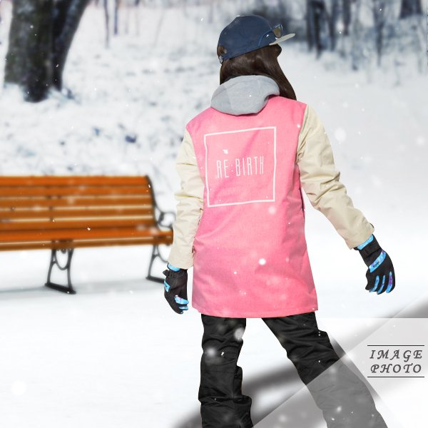 送料無料 スノーボードウェア レディース Coach Jacket コーチジャケット バックプリント スノーボード ウェア スノボ SNOWBOARD JACKET 17-18 2017-2018冬新作 elephant 15