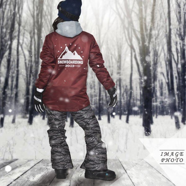 送料無料 スノーボードウェア レディース Coach Jacket コーチジャケット バックプリント スノーボード ウェア スノボ SNOWBOARD JACKET 17-18 2017-2018冬新作 elephant 16