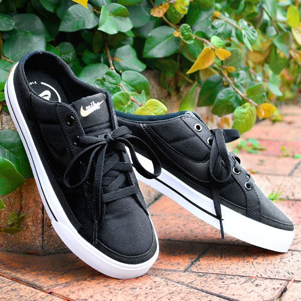ナイキスニーカーサンダルメンズレディースNIKEコートレガシーミュールキャンバスシューズクロッグ靴ブラック黒db39702021