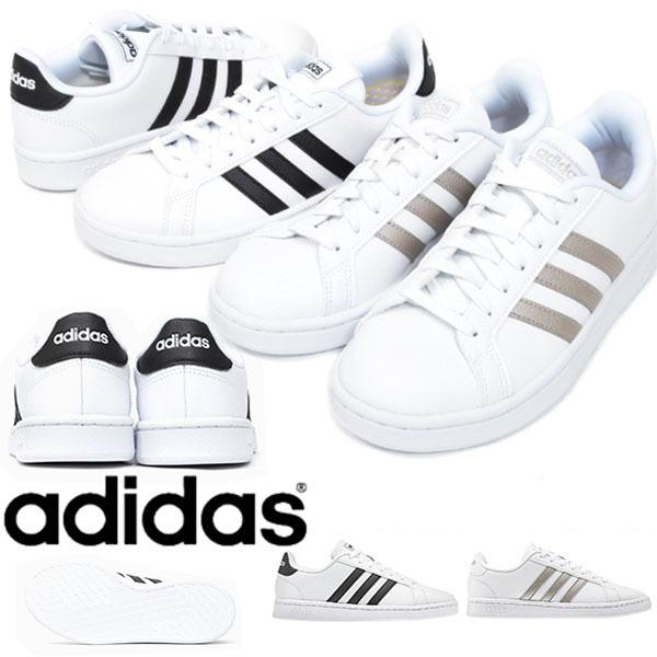 スニーカー アディダス adidas GRANDCOURT LEA W レディース カジュアル シューズ 靴 2019春新作 得割10 送料無料 F36483 F36485