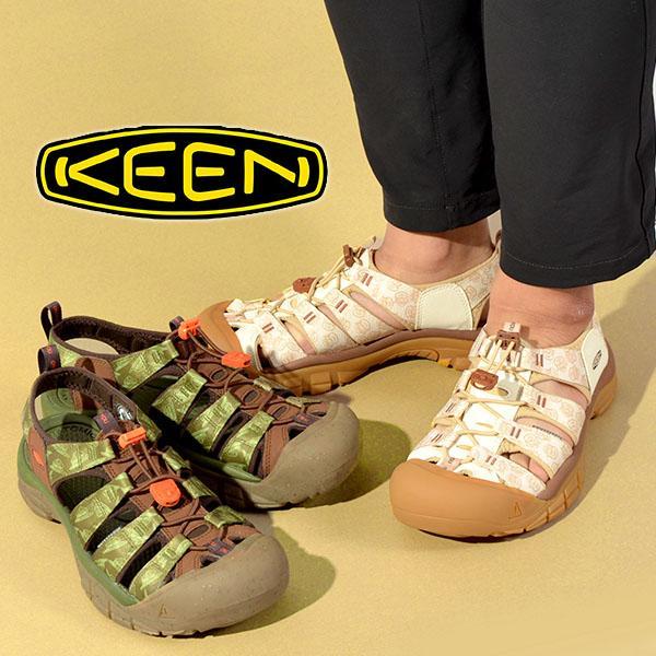コラボカラー水陸両用サンダルKEENキーン靴レディースNewportH2ニューポートシューズフェスアウトドア国内正規品