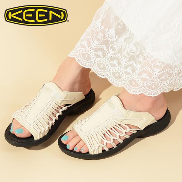 キーンサンダル靴レディースKEENユニークスニークスライドUNEEKSNKSLIDEブラック黒2021春夏 1024888