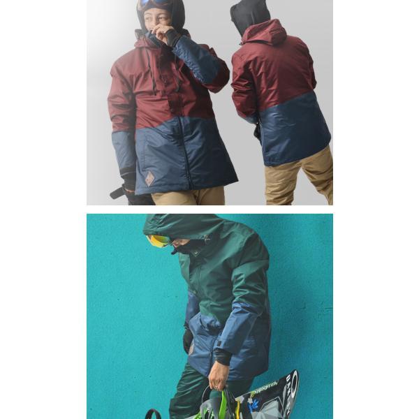 処分品 スノーボード ウェア メンズ バイカラー 切り替え 2トーン ジャケット スノーウエア SNOWBOARD|elephant|07