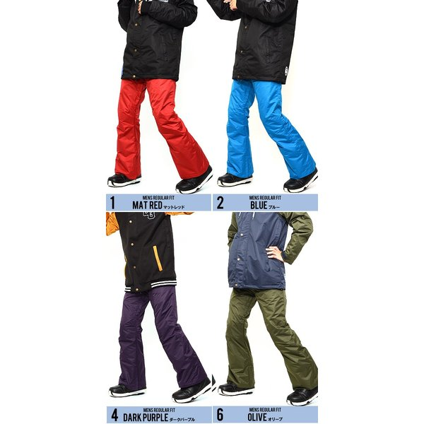 スノーボードウェア メンズ パンツ レギュラーフィット スノーパンツ ボトムス 立体縫製 スノボパンツ  スノボウエア SNOWBOARD 送料無料|elephant|03